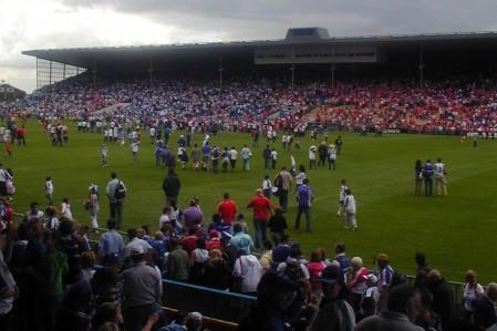 Pitch invasion, Cork, 2007