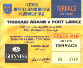 Ticket, Tipperary, 2002