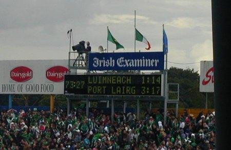 Final score, Limerick, 2007