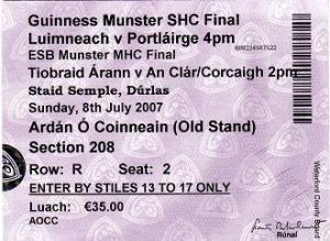 Ticket, Limerick, 2007