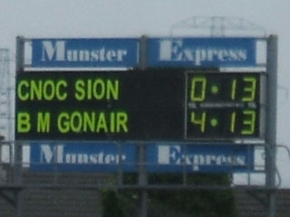 Final score, Ballygunner v Mount Sion, October 2007