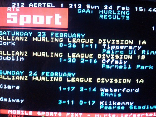 Hurling Results Clare 1-17 Waterford 2-14 Aertel 24-2-1013