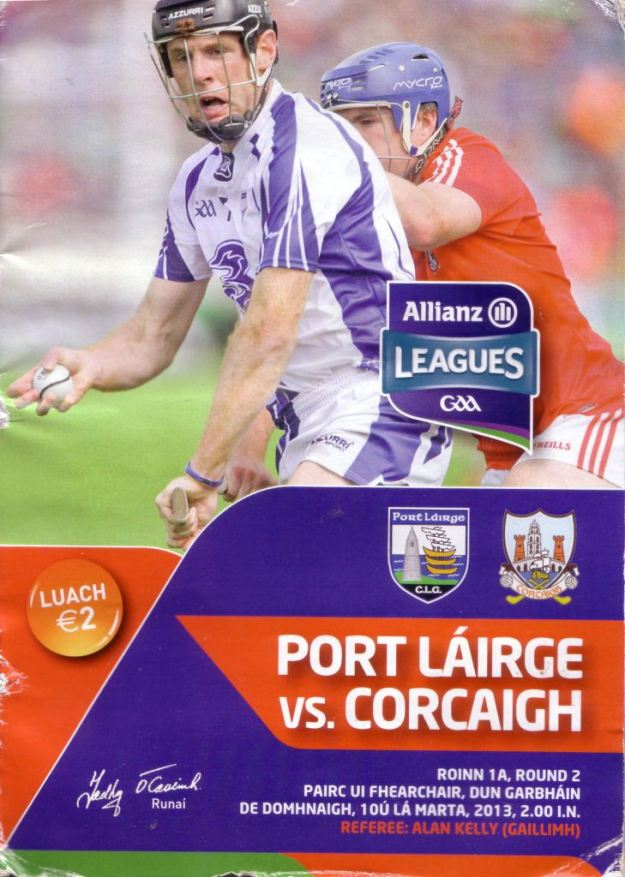 11 Waterford v Cork 10 March 2013 Cover