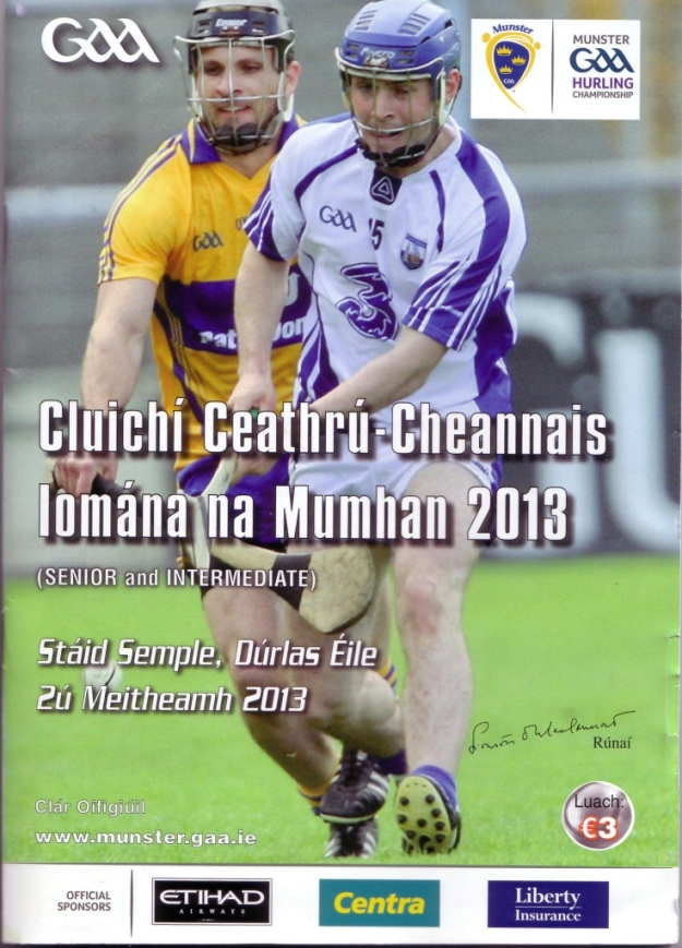 34 Waterford v Clare 2 June 2013 Cover