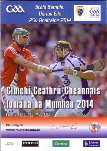 24 Waterford v Cork 25 May 2014 programme