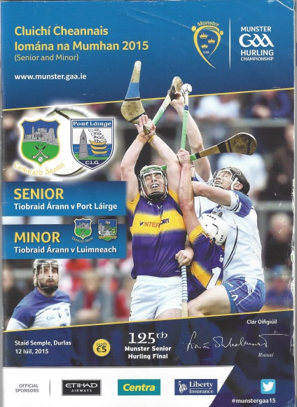 Waterford v Tipperary 12 July 2015 Cover