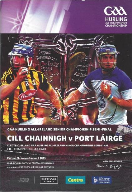 Waterford v Kilkenny 9 August 2015 Cover